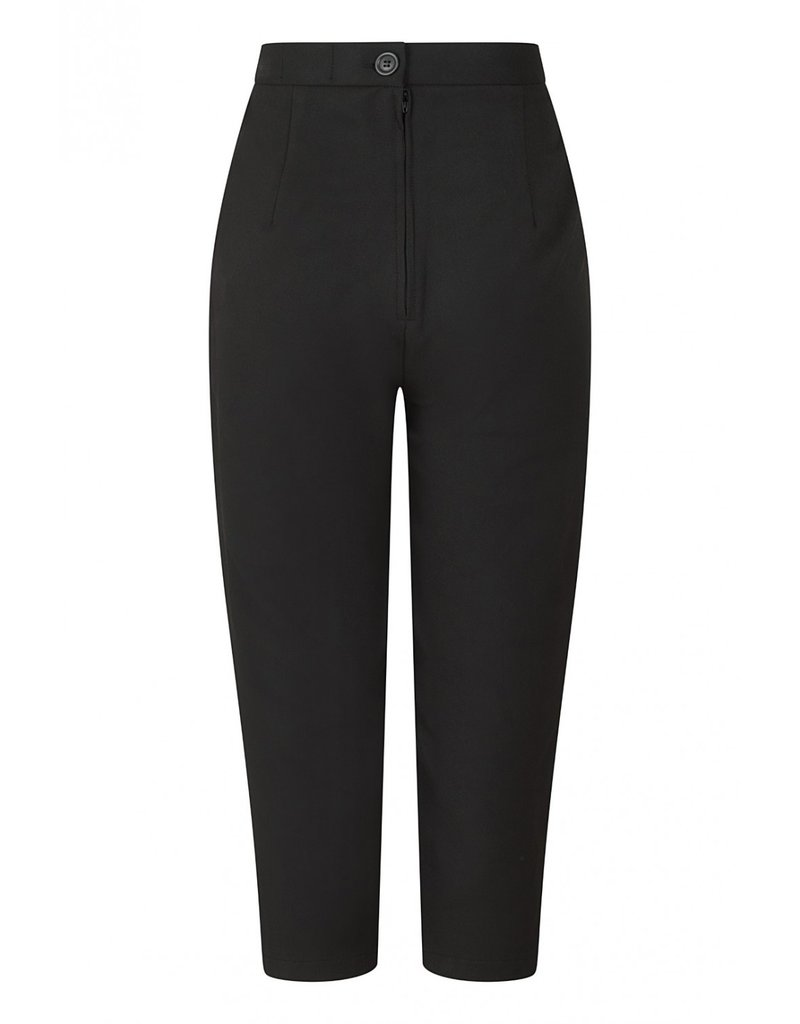 Hell Bunny SPECIAL ORDER Hell Bunny Amelie Cigarette Trousers Black
