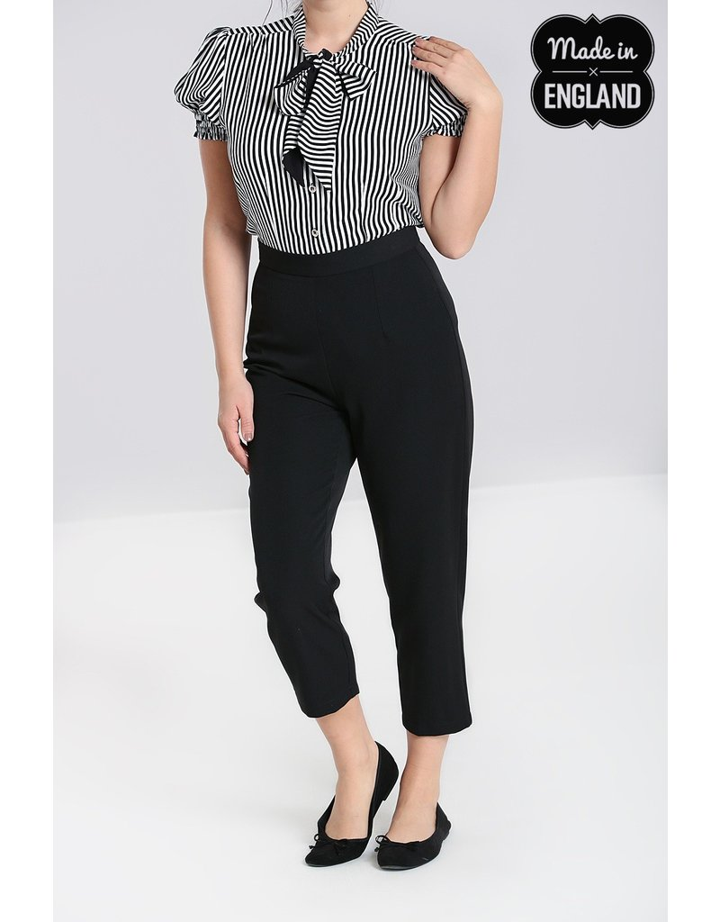 Hell Bunny SPECIAL ORDER Hell Bunny Carlie Cigarette Pants Black