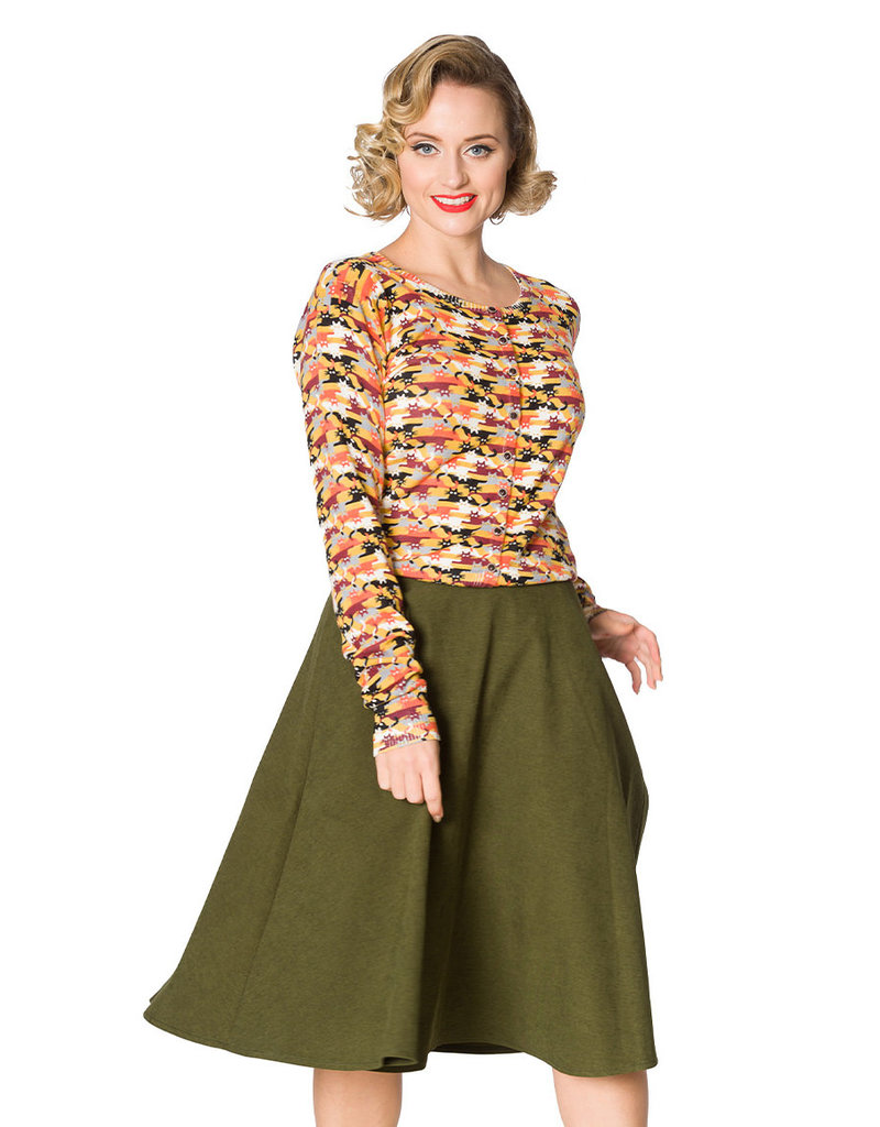 Banned SPECIAL ORDER Dancing Days Lady Swing Skirt Olive