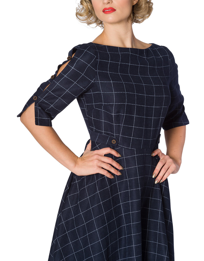 Banned SPECIAL ORDER Dancing Days Cheeky Check Dress Navy