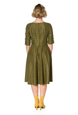 Banned SPECIAL ORDER Dancing Days Cheeky Check Dress Olive