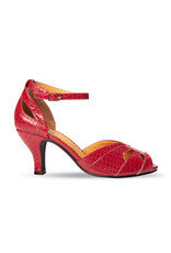 Banned SPECIAL ORDER Dancing Days Indiscreet Peep Toe Pump Red