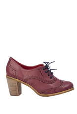 Banned SPECIAL ORDER Dancing Days Bettie Lace Up Bootie Burgundy