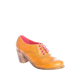 Banned SPECIAL ORDER Dancing Days Bettie Lace Up Bootie Mustard