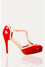 Banned SPECIAL ORDER Dancing Days Betty Strap Pumps Red