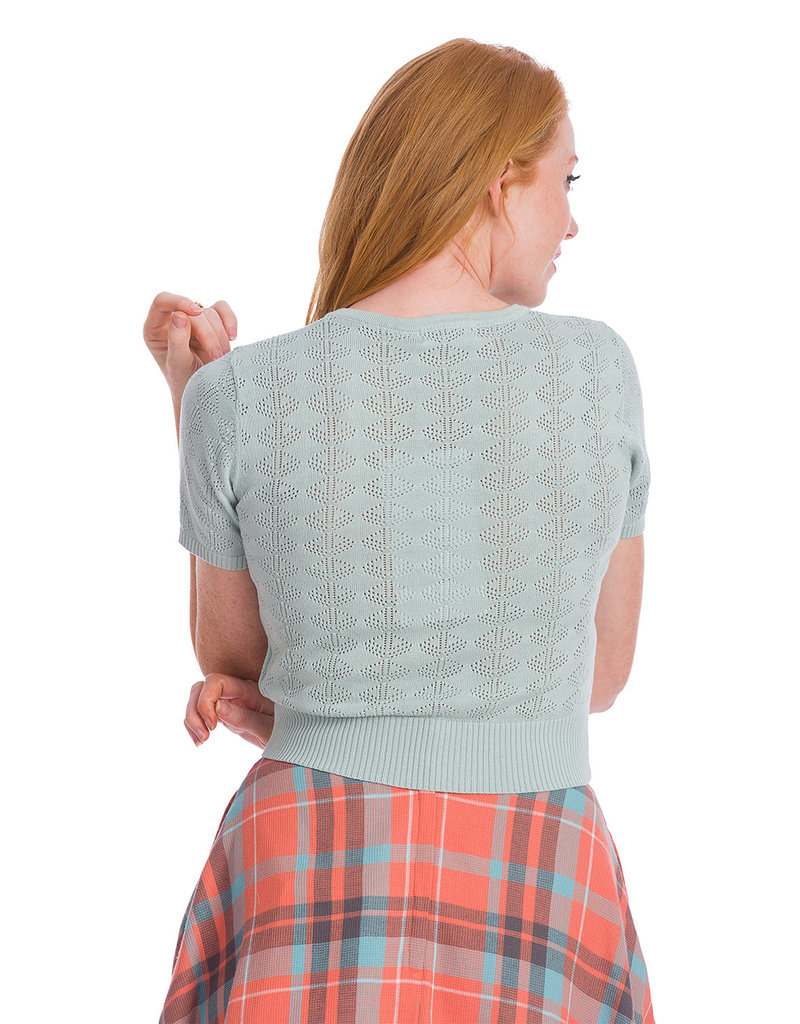 Banned SPECIAL ORDER Dancing Days Bow Knit Top Sea Blue
