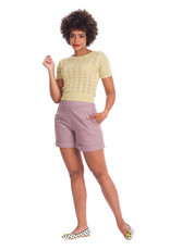 Banned SPECIAL ORDER Dancing Days Bow Knit Top Ivory