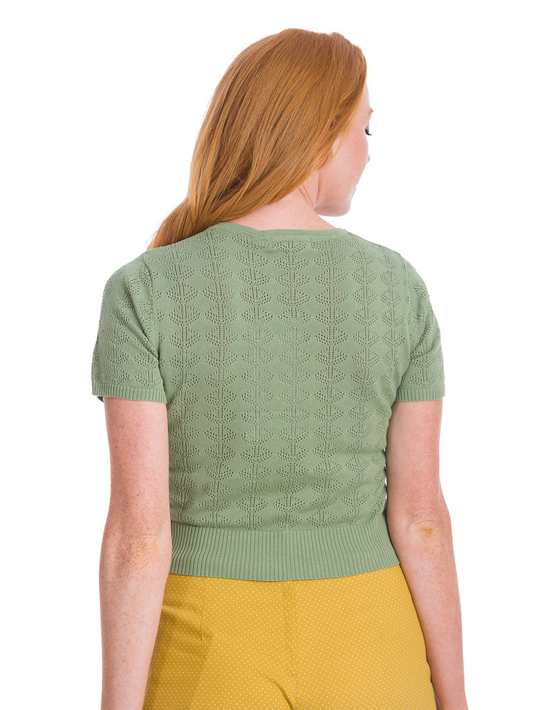 Banned SPECIAL ORDER Dancing Days Bow Knit Top Green