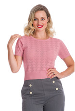 Banned SPECIAL ORDER Dancing Days Nautical Top Pink