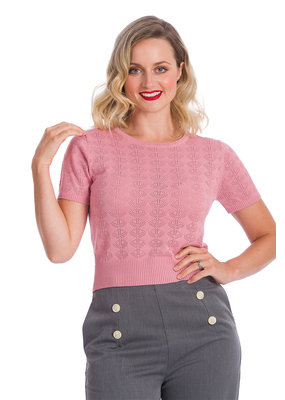 Banned SPECIAL ORDER Dancing Days Bow Knit Top Pink