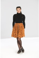 Hell Bunny SPECIAL ORDER Hell Bunny Vixey Foxy Mini Skirt Brown