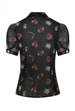 Hell Bunny SPECIAL ORDER Hell Bunny Petals Rose Blouse