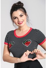 Hell Bunny SPECIAL ORDER Hell Bunny Rose Heart Top Black