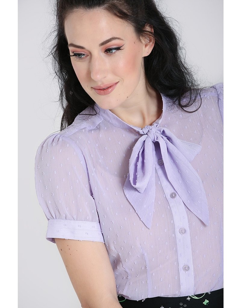 Hell Bunny SPECIAL ORDER Hell Bunny Frilly Sundae Blouse Lavender