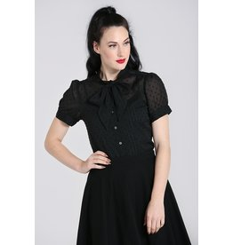Hell Bunny SPECIAL ORDER Hell Bunny Frilly Sundae Blouse Black