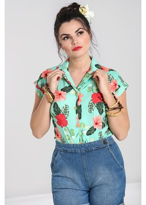 Hell Bunny SPECIAL ORDER Hell Bunny Moana Tropical Blouse
