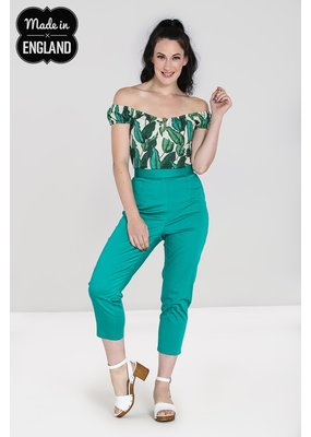 Hell Bunny Hell Bunny Helen Cigarette Trousers Green