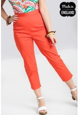 Hell Bunny SPECIAL ORDER Hell Bunny Helen Cigarette Trousers Orange