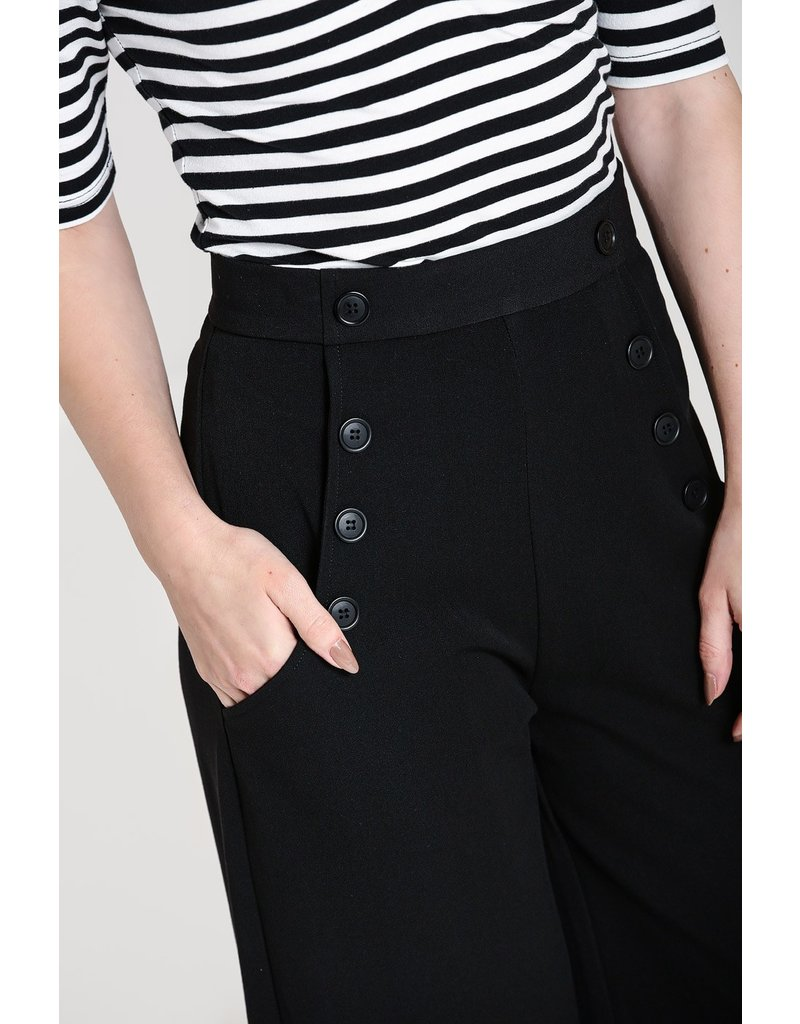 Hell Bunny SPECIAL ORDER Hell Bunny Carlie Swing Pants Black