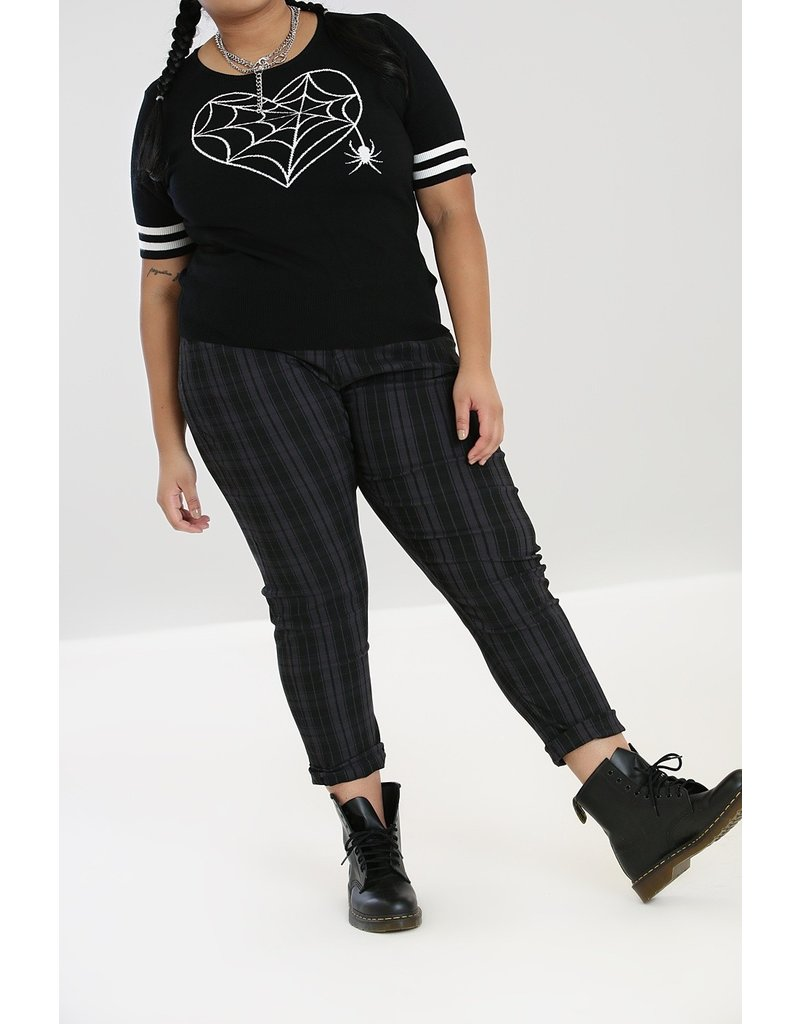 Hell Bunny Hell Bunny Storm Check Trousers