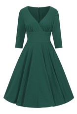 Hell Bunny SPECIAL ORDER Hell Bunny Patricia Swing Dress Green