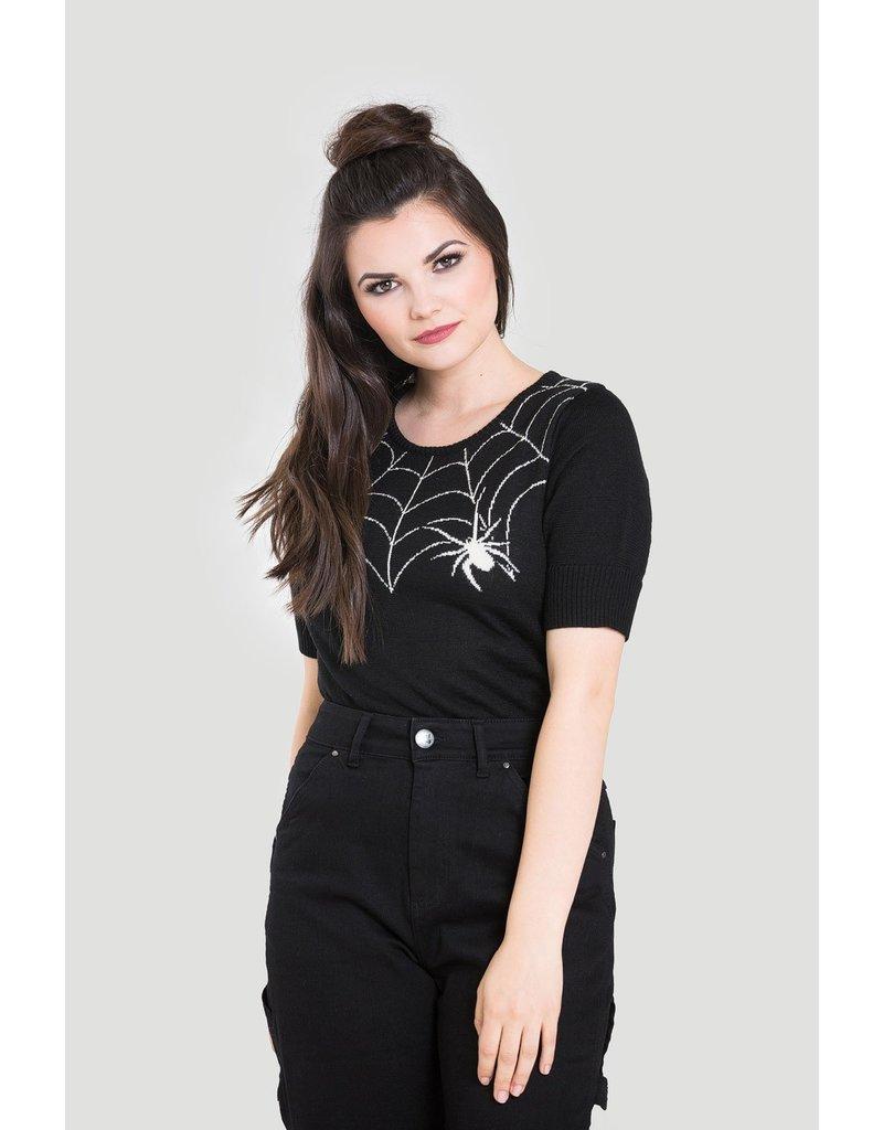 Hell Bunny SPECIAL ORDER Hell Bunny Black Widow Jumper