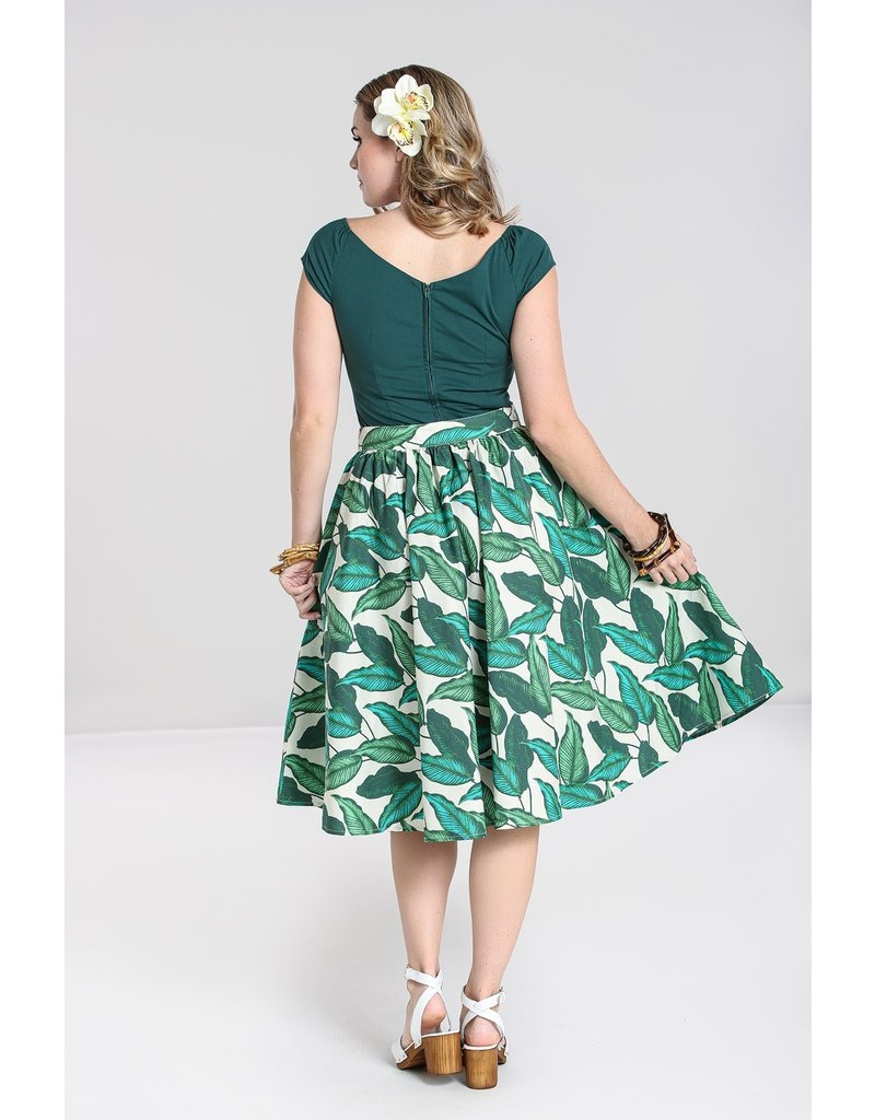 Hell Bunny SPECIAL ORDER Hell Bunny Rainforest Button Skirt