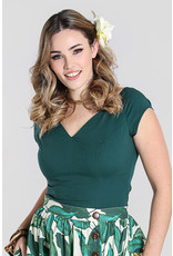 Hell Bunny Hell Bunny Petunia Top Forest Green