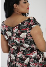 Hell Bunny Hell Bunny Oriental Lanah Top