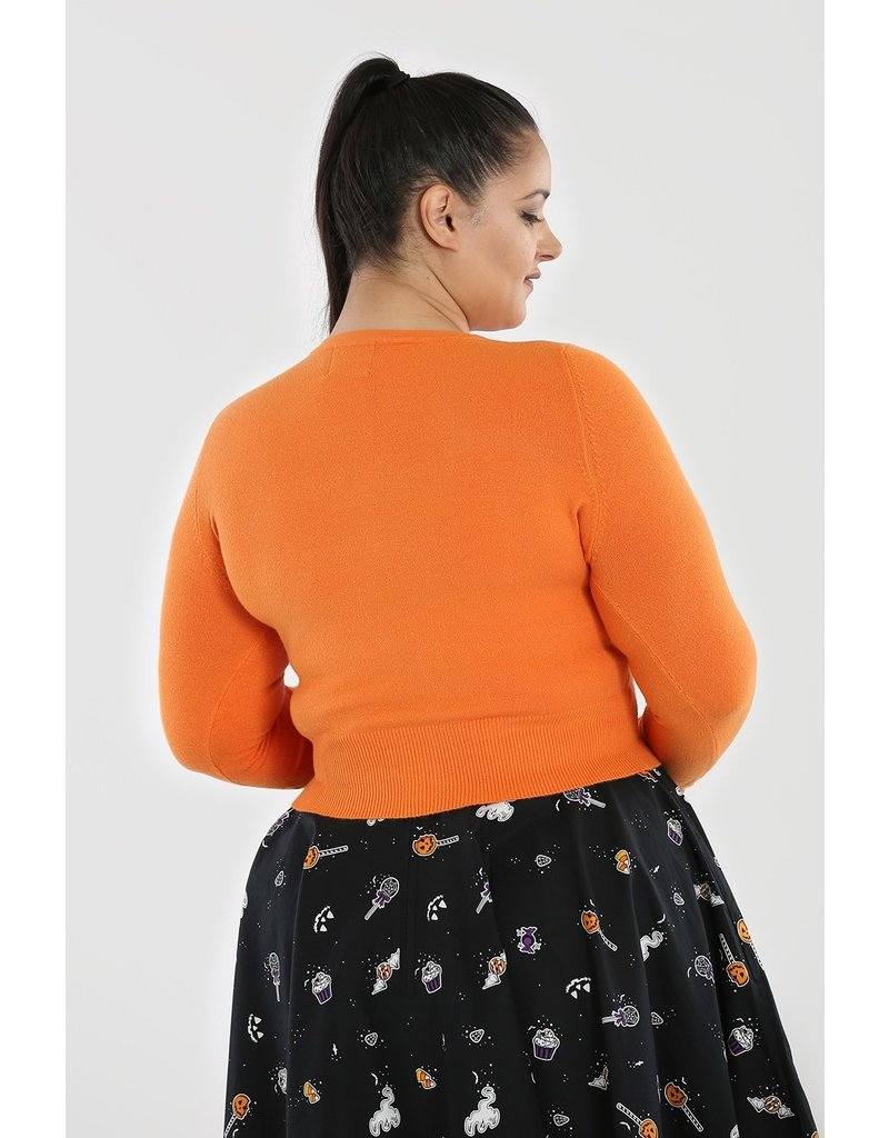 Hell Bunny Hell Bunny Paloma Cardigan Orange