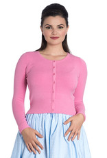 Hell Bunny SPECIAL ORDER Hell Bunny Retro Paloma Cardigan Pink