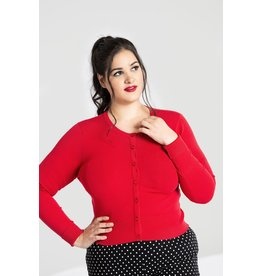 Hell Bunny SPECIAL ORDER Hell Bunny Retro Paloma Cardigan Red