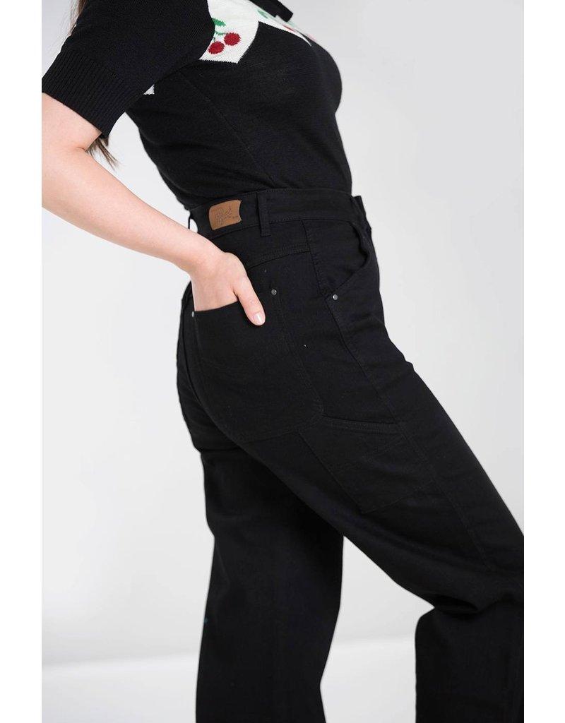 Hell Bunny Hell Bunny 1940s Carpenter Jeans Black