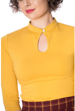 Banned SPECIAL ORDER Dancing Days Mandarin Top Long Sleeve Mustard