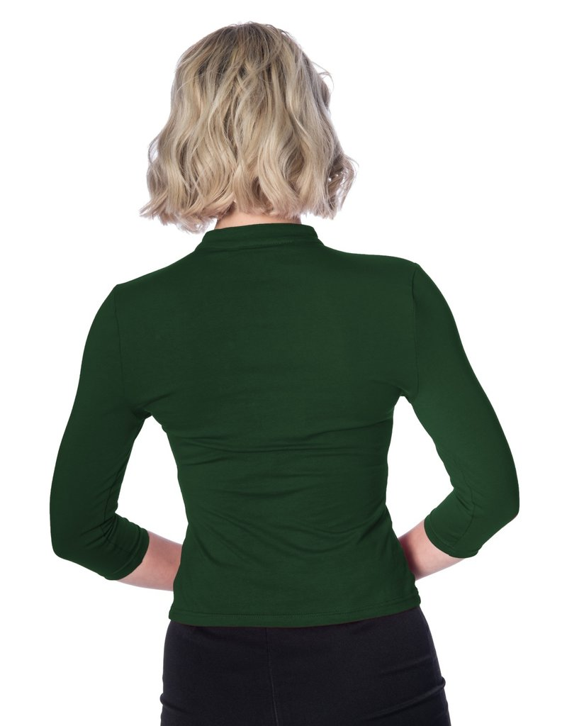 Banned SPECIAL ORDER Dancing Days Mandarin Top Long Sleeve Forest Green