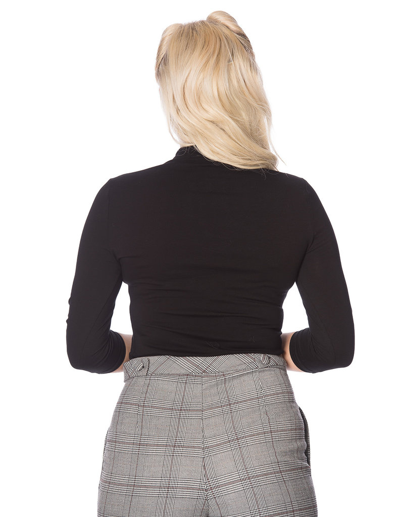 Banned SPECIAL ORDER Dancing Days Mandarin Top Long Sleeve Black