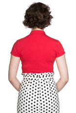 Banned SPECIAL ORDER Dancing Days Mandarin Top Red