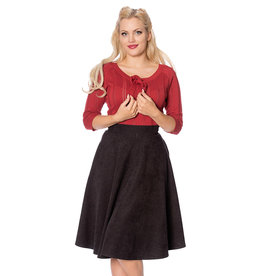 Banned Dancing Days 1950s Sophisticated Swing Skirt Black