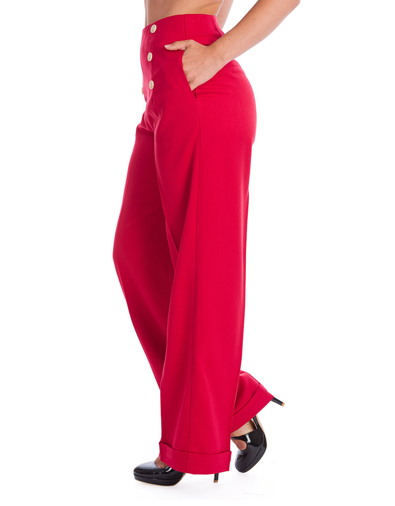 Banned Dancing Days Adventures Ahead Trousers Red