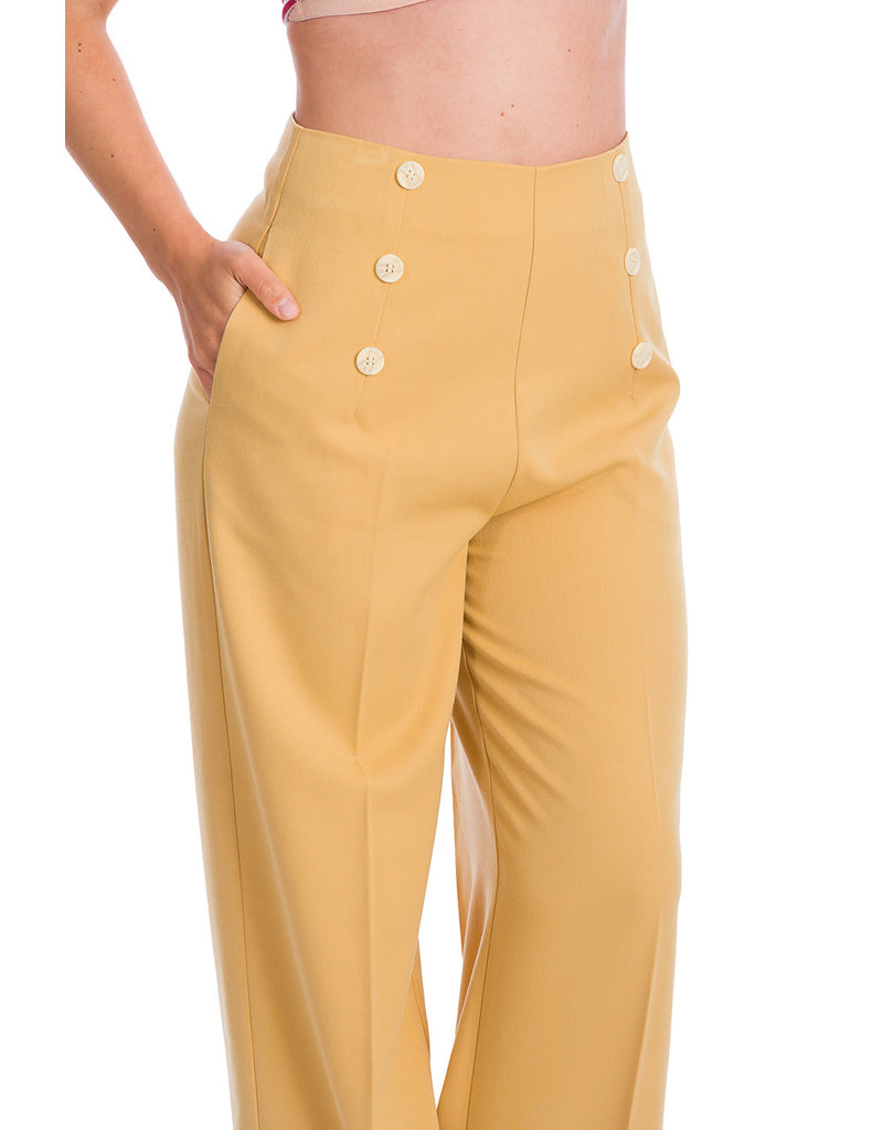 Banned SPECIAL ORDER Dancing Days Adventures Ahead Trousers Yellow