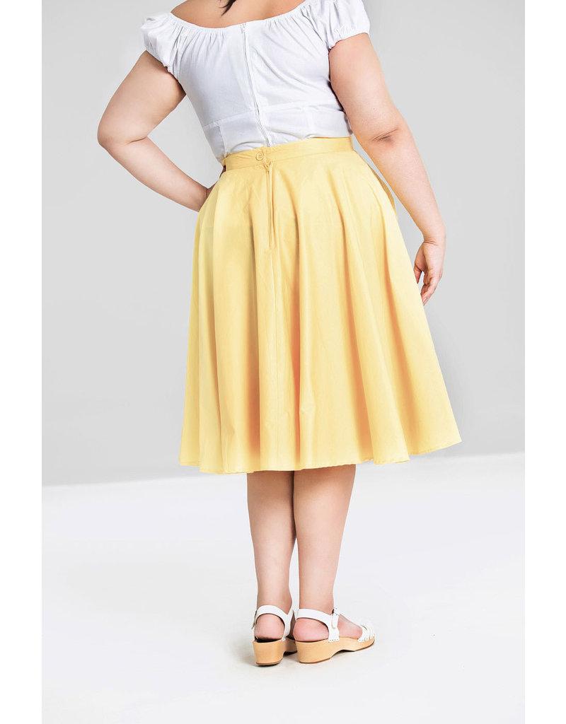 Hell Bunny SPECIAL ORDER Hell Bunny Paula Swing Skirt Yellow