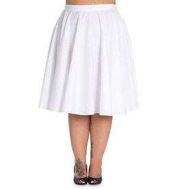 Hell Bunny SPECIAL ORDER Hell Bunny Paula Swing Skirt White