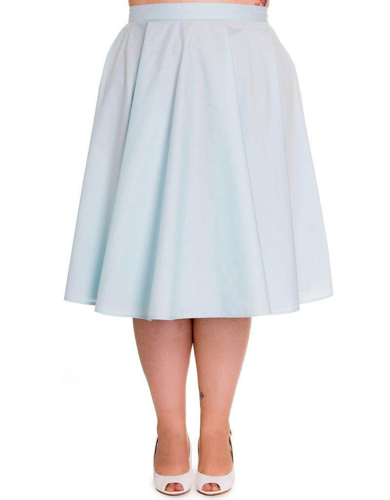 Hell Bunny SPECIAL ORDER Hell Bunny Paula Swing Skirt Light Blue
