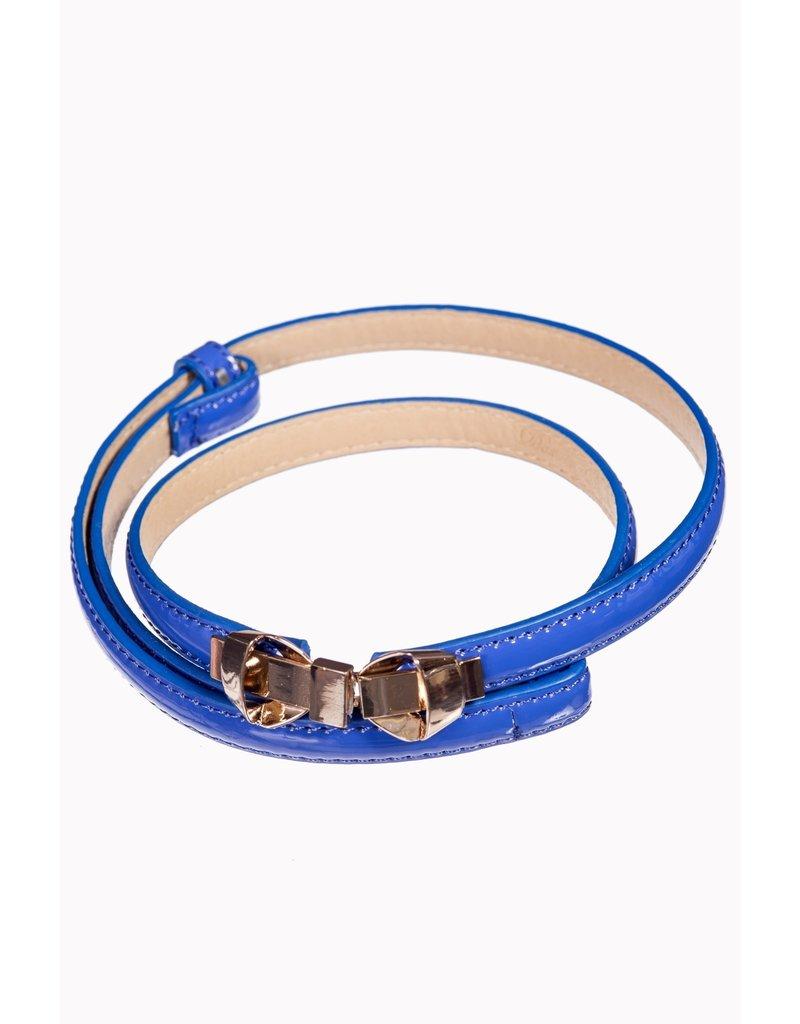 Banned Banned Bitter Sweet Thin Belt Royal Blue