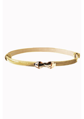 Banned SPECIAL ORDER Banned Bitter Sweet Thin Belt Gold