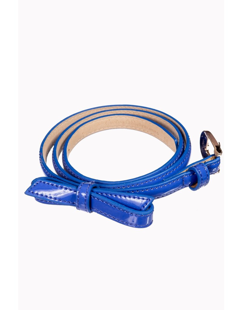 Banned SPECIAL ORDER Banned Gold Rush Bow Belt Royal Blue