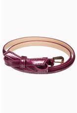 Banned SPECIAL ORDER Banned Gold Rush Bow Belt Dark Magenta
