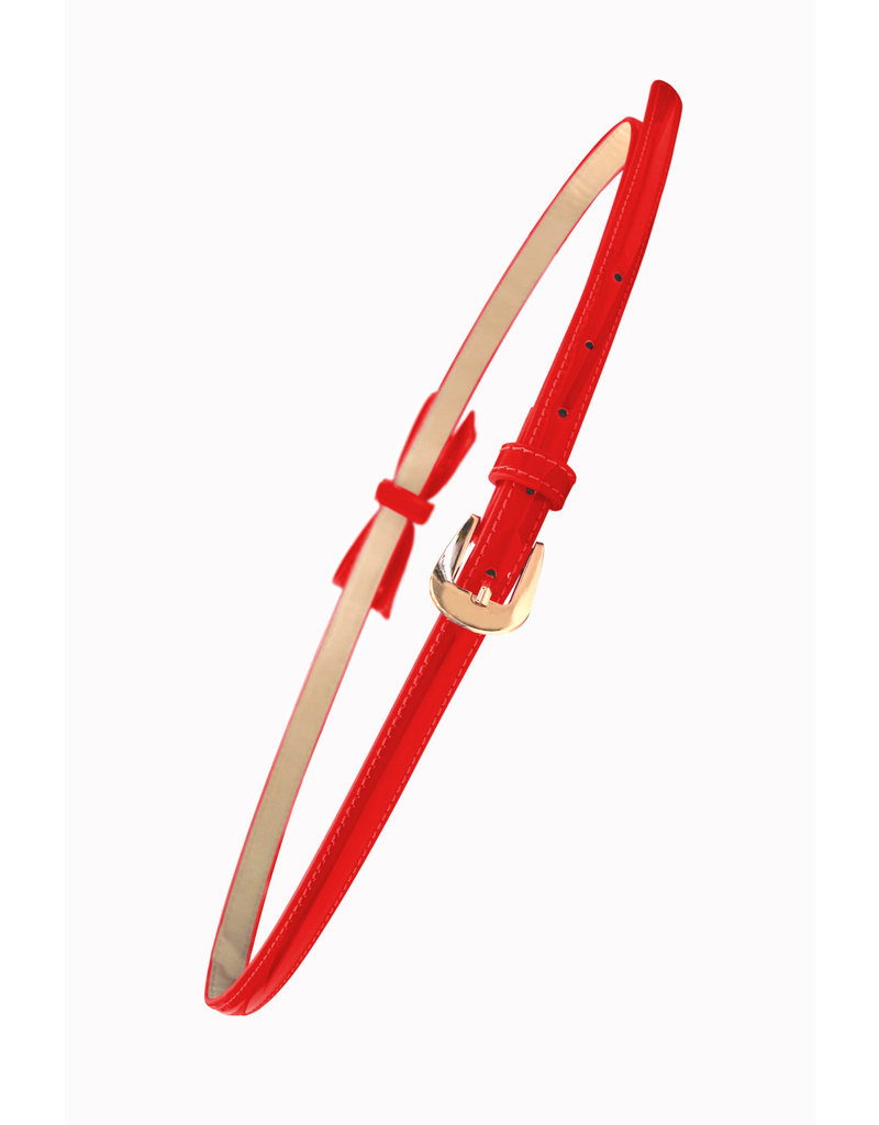 Banned SPECIAL ORDER Banned Gold Rush Bow Belt Red