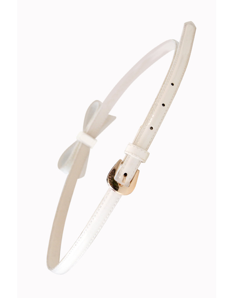 Banned SPECIAL ORDER Banned Gold Rush Bow Belt White