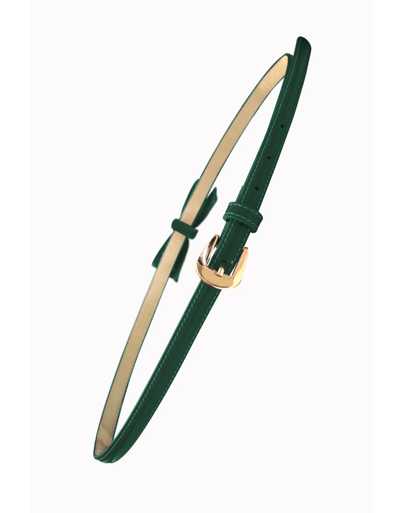Banned SPECIAL ORDER Banned Gold Rush Bow Belt Forest Green